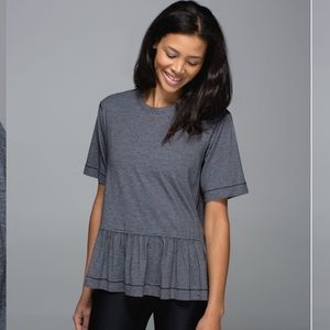 Lululemon Grey Flouncey Tee Fits as Small